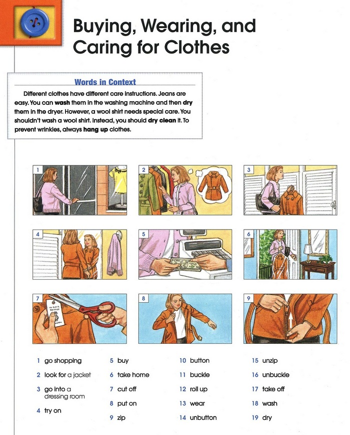 clothes vocabulary pic 1