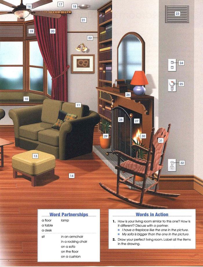 living room vocabulary pic 2