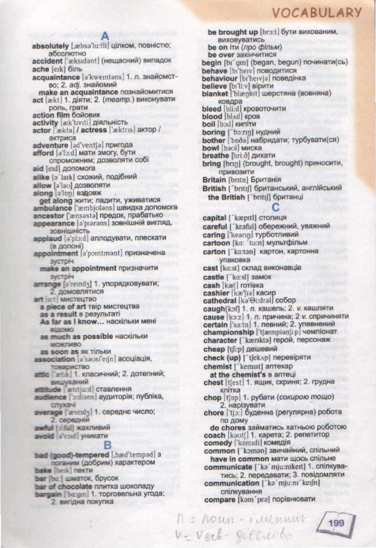 словник з англійської 7 клас - 0001